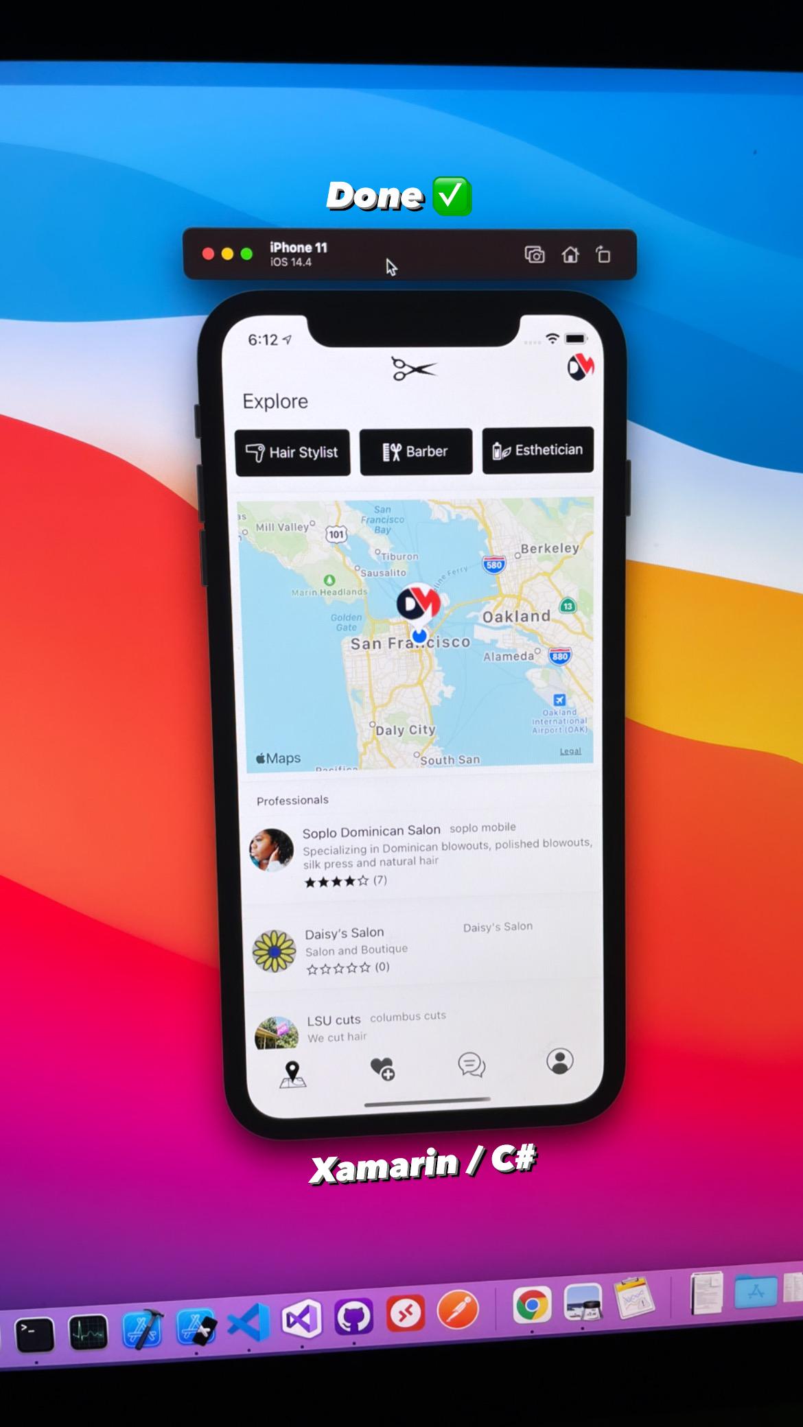 Xamarin mobile app called Cut Corners